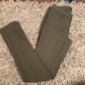 Wax jean olive Skinny jeans
